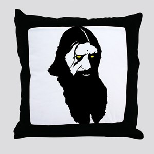 Raspy-yellow eyes Throw Pillow