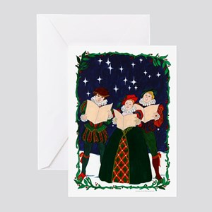 Elizabethan Carolers Greeting Cards (Pack of 10)