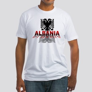 3D Albania Fitted T-Shirt