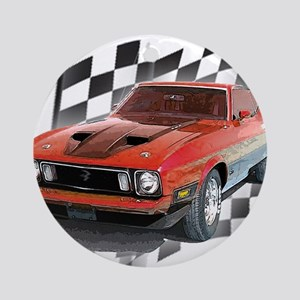 Mustang 1973 Ornament (Round)