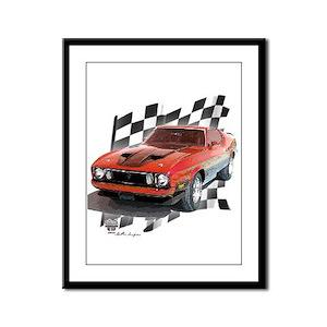 Mustang 1973 Framed Panel Print