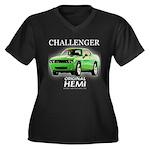 2009 Challenger Women's Plus Size V-Neck Dark T-Sh