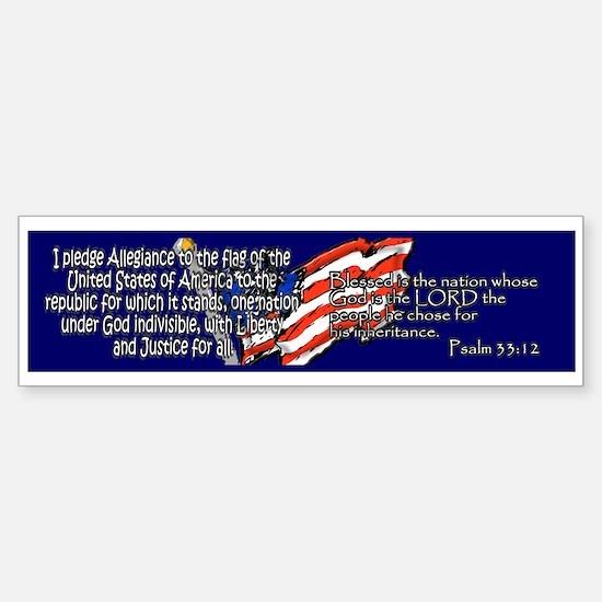 Pledge of Allegiance Psalm 33 Bumper Bumper Bumper Sticker
