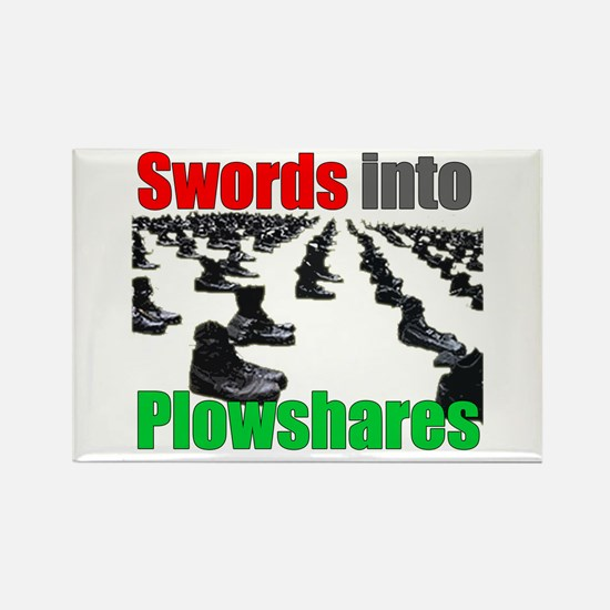 Swords into Plowshares Rectangle Magnet
