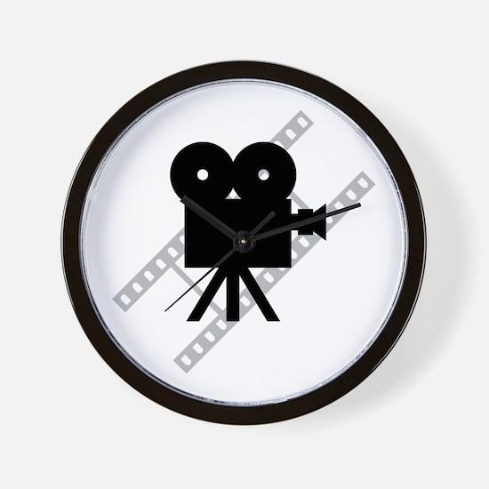 Hollywood Film Camera Wall Clock