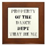 Dance Dept Framed Tile
