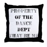 Dance Dept Throw Pillow