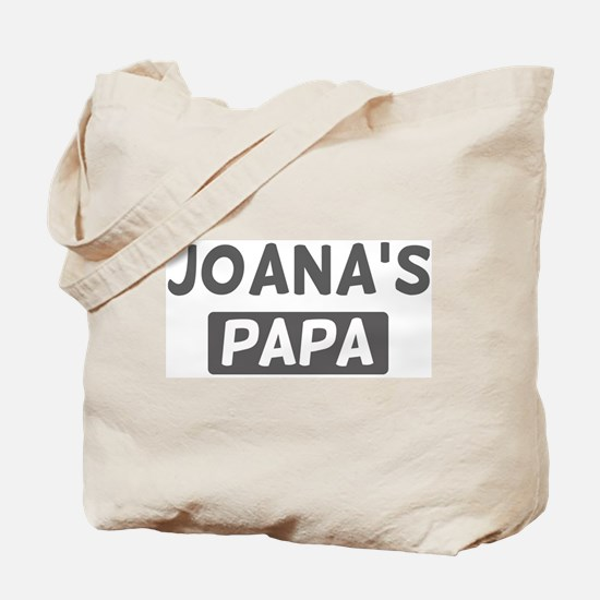Joanas Papa Tote Bag