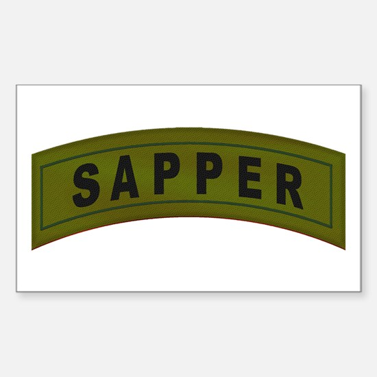 Sapper Tab Rectangle Decal