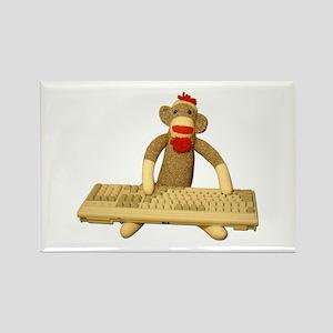 Code Sock Monkey Rectangle Magnet