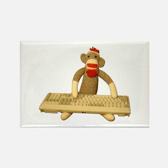 Code Sock Monkey Rectangle Magnet