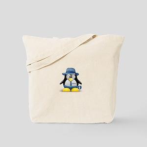Fedora Tux Tote Bag