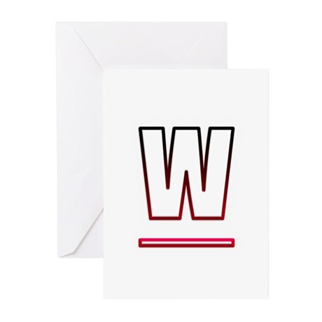 Letter W Greeting Cards by Admin_CP143990139