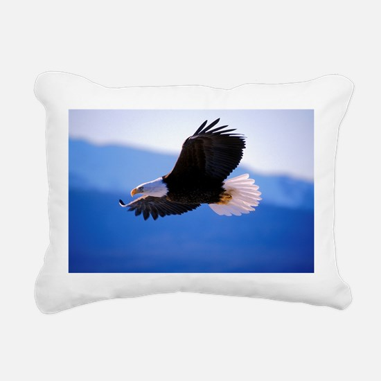 Bald Eagle flying Rectangular Canvas Pillow