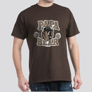 Papa Bear Father's Day Dark T-Shirt