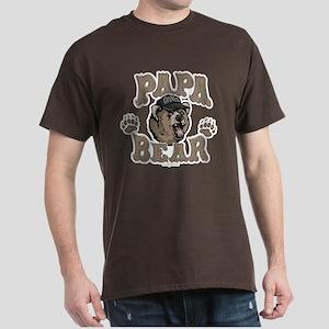 Papa Bear Father's Day Dark T-Shirt