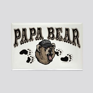 Papa Bear Father's Day Rectangle Magnet