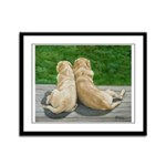 Yellow Labrador Lazy Day Framed Panel Print