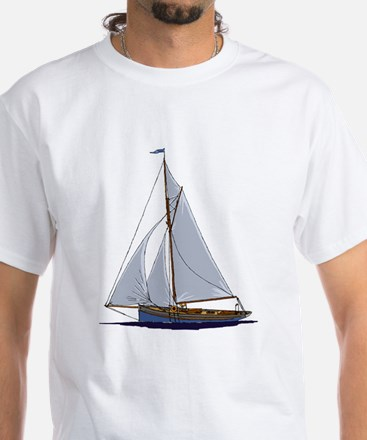 Old Sail Boat White T-Shirt