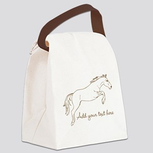 Horse Personalized Canvas Lunch Bag