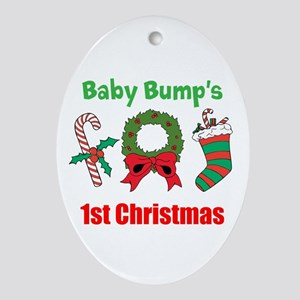 Baby Bump's 1st Christmas Oval Ornament
