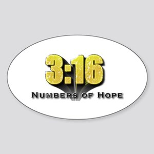 Numbers of Hope John 3:16 Oval Sticker