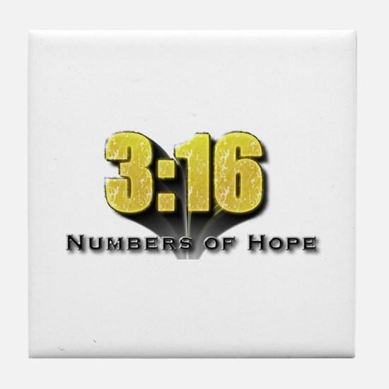 Numbers of Hope John 3:16 Tile Coaster