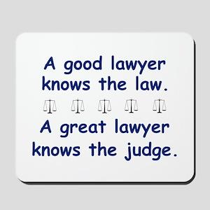 Good/Great Lawyer Mousepad