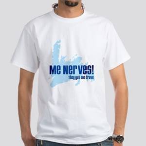 """Me Nerves"" (White T-Shirt)"