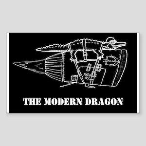 The Modern Dragon Rectangle Sticker