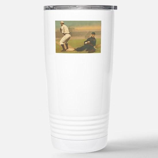 TOP Classic Baseball Stainless Steel Travel Mug