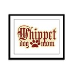 Whippet Mom Framed Panel Print