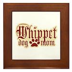 Whippet Mom Framed Tile
