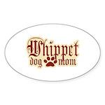 Whippet Mom Sticker (Oval 50 pk)