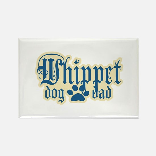 Whippet Dad Rectangle Magnet (100 pack)