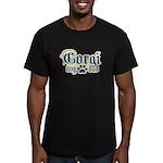 Corgi Dad Men's Fitted T-Shirt (dark)