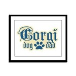Corgi Dad Framed Panel Print