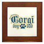 Corgi Dad Framed Tile