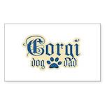 Corgi Dad Sticker (Rectangle 50 pk)
