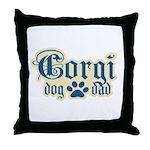 Corgi Dad Throw Pillow