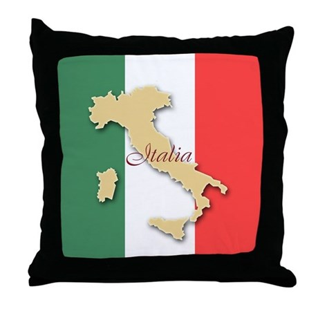 Italia (Italy Map) Throw Pillow