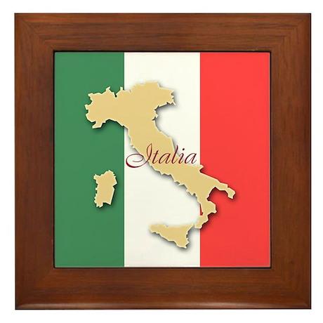 Italia (Italy Map) Framed Tile