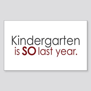 Funny Kindergarten Grad Rectangle Sticker