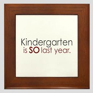 Funny Kindergarten Grad Framed Tile
