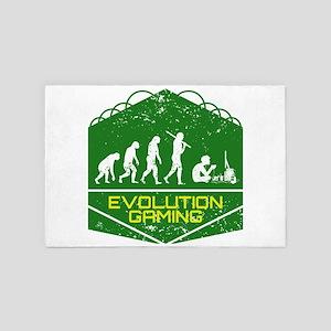 Video Gaming Evolution 4' x 6' Rug