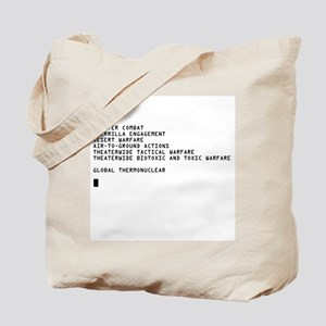 Global Thermonuclear War T-Sh Tote Bag