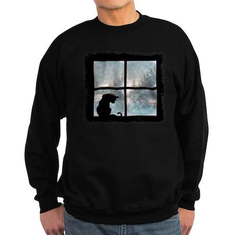 Cat in Window Sweatshirt (dark)