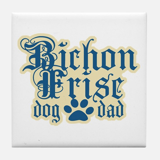 Bichon Frise Dad Tile Coaster