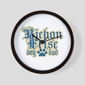Bichon Frise Dad Wall Clock