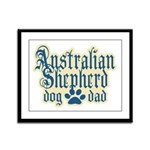 Australian Shepherd Dad Framed Panel Print